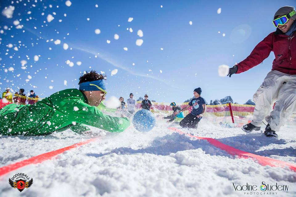 Have you ever played Dodgeball on snow?!?! We did it!!! grin emoticon and it was awesome!! First Dodgeball Snow Cup Tirol Dodgeball Austria